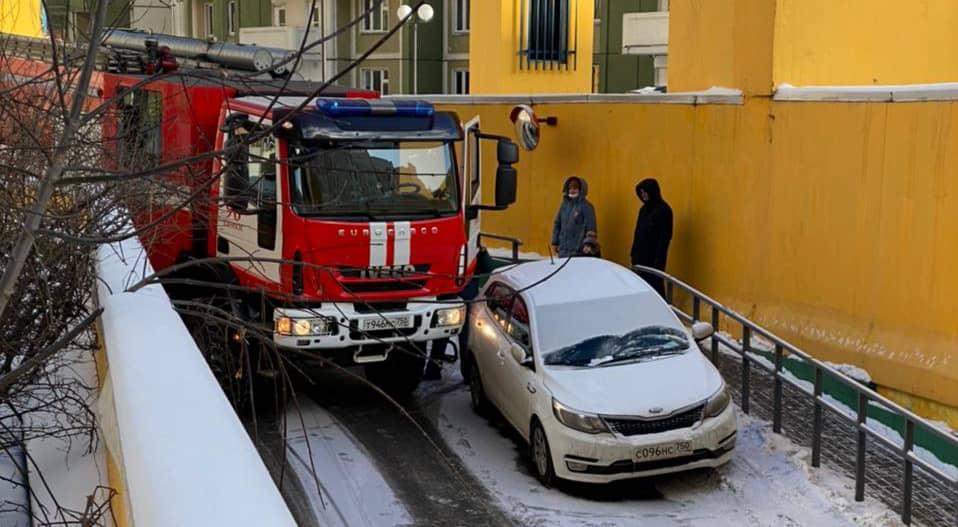 Пожар на ул. Горшина в Химках